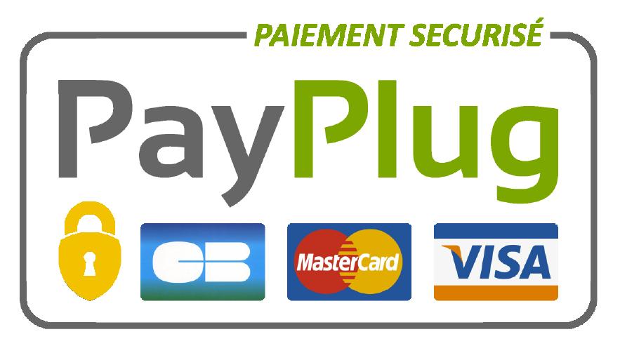 Logo Payplug Paiement sécurisé via SSL partenaire Shine Car