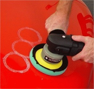 Visuel travail de passe polish voile - Shine Car - Votre partenaire brillance- Distributeur agréé Polish Secours