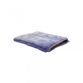 Gant de lavage microfibre luxe bleu